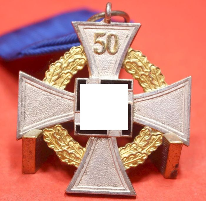 Germany - on the band with wearing needle - Special stage loyalty service- 50 years of honor - very rare! - 1940