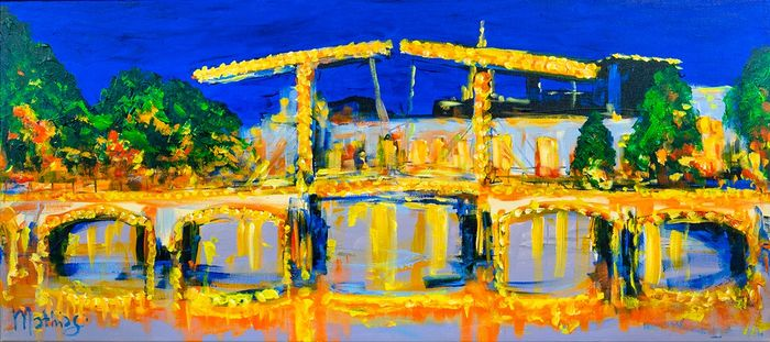 Mathias - Impressions of Amsterdam, bridge in night
