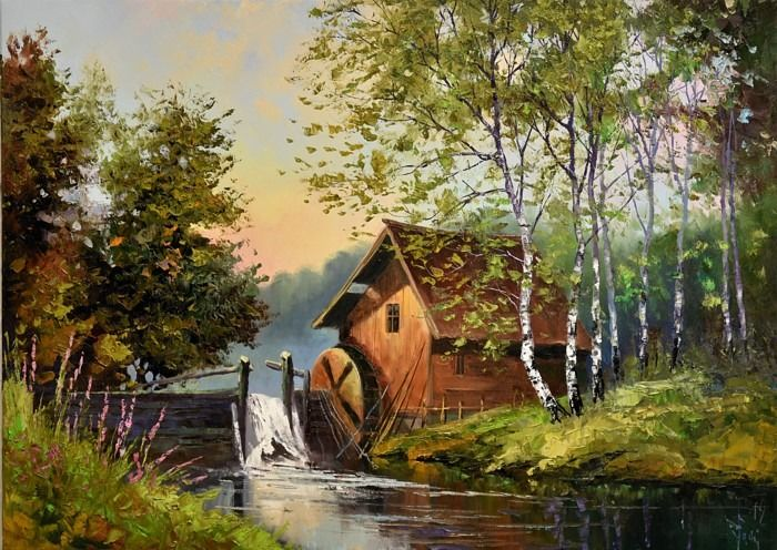 Jack Lacky - Sunset over an old water mill