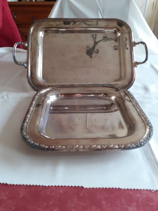 Tray (2) - silver plated