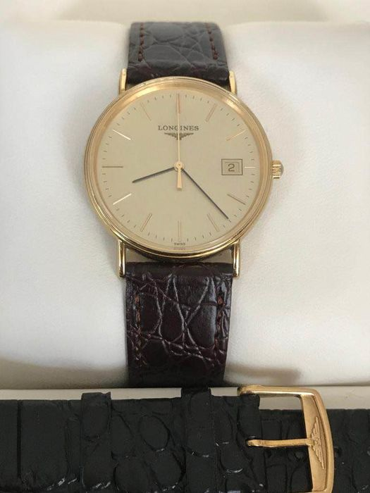 Longines - Men-18 Kt Gold Plated Extra new leather strap - L.4.636 - Heren - 1990-1999