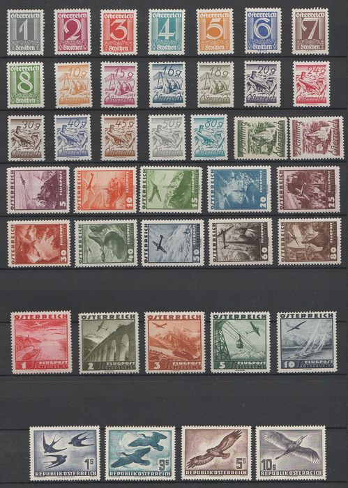 Austria 1925/1953 - Selection - Michel 447/467, 598/612, 984/987