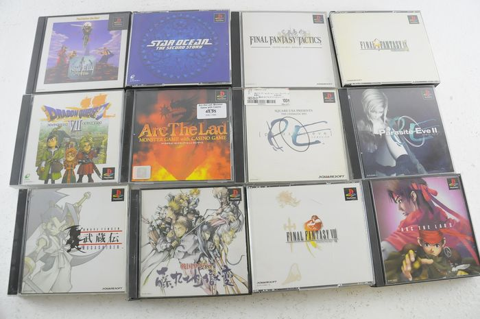 Sony Playstation - 12 Japanese PS1 Games eg Parasite Eve II, Arc the lad and more - Na caixa original