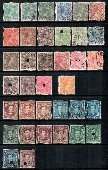 Espanha, Portugal e colônias portuguesas 1867/1930 - Batch of stamps
