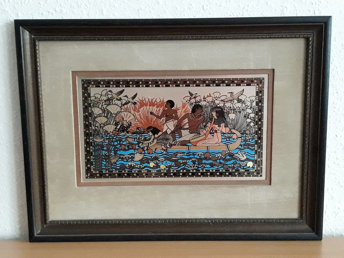 Franklin Mint - The Song of The Golden Nile - picture  (1) - Enamel, Goldplate, Velvet, Wood, mixed materials