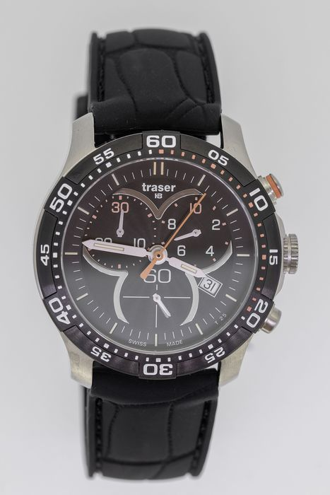 """Traser - T73 Lady Time Chronograph Black with Silicone Strap - 100314 """"NO RESERVE PRICE"""" - Mujer - BRAND NEW"""