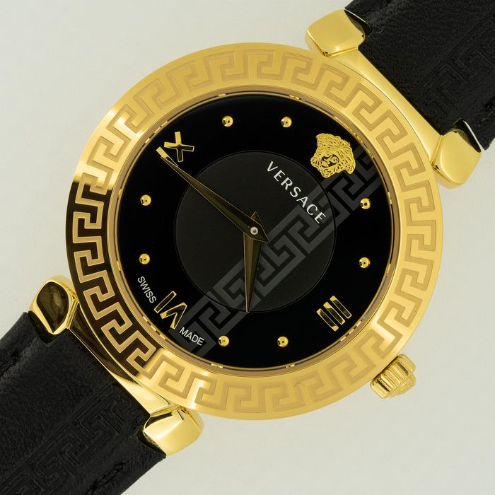 "Versace - Watch Daphnis Black IP Gold Case Swiss Made - ""NO RESERVE PRICE"" V16050017 - Dames - NEW"