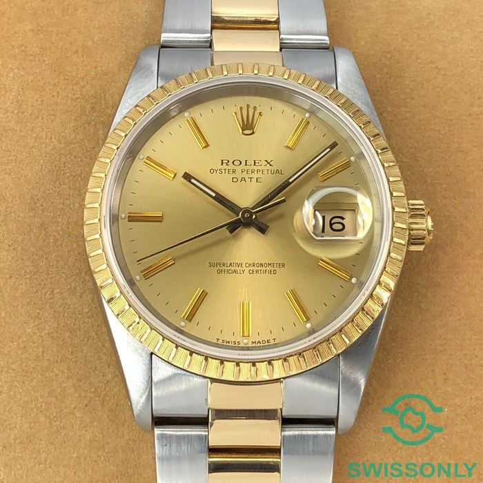 Rolex - Oyster Perpetual Date - 15223 - Unisex - 1980-1989