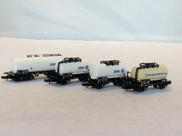 Minitrix N - Freight carriage - 4 tank wagons from the DSM and Hoogovens - (5227) - NS