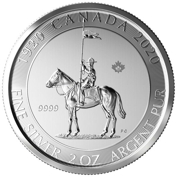 Canada - 10 Dollar 2020 - Mounted Police -  2 oz - Zilver