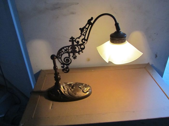 Desk lamp (1) - Art Deco - Bronze