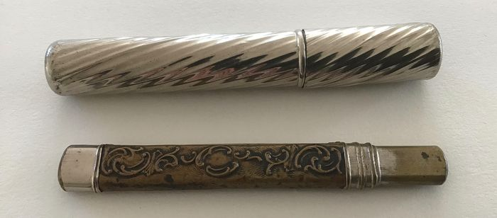 Antique ladies pencils (2) - Silverplate