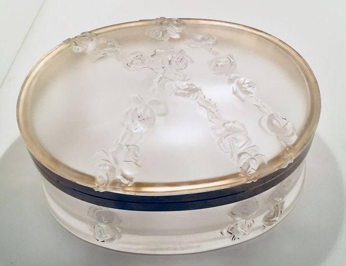 "Lalique - ""Coppellia"" Box - Crystal, Golden Metal"