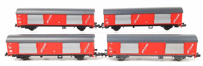Roco N - Freight carriage - Four mail trucks - NS