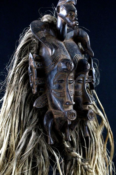 Mask - Wood - Kpelie - Senufo - Ivory Coast