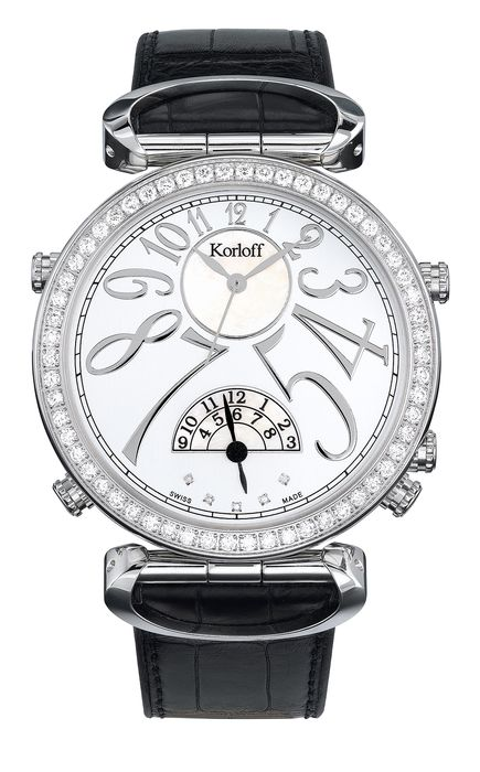 Korloff - Diamonds for 1.74 Carat Reversible Voyager Edition GMT Swiss Made  - MTZAD - Herren - BRAND NEW