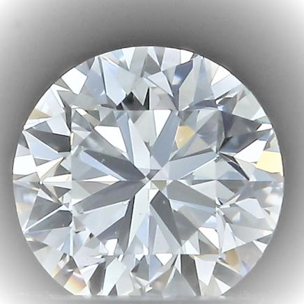 1 pcs Diamant - 0.40 ct - Rond - D - VVS2