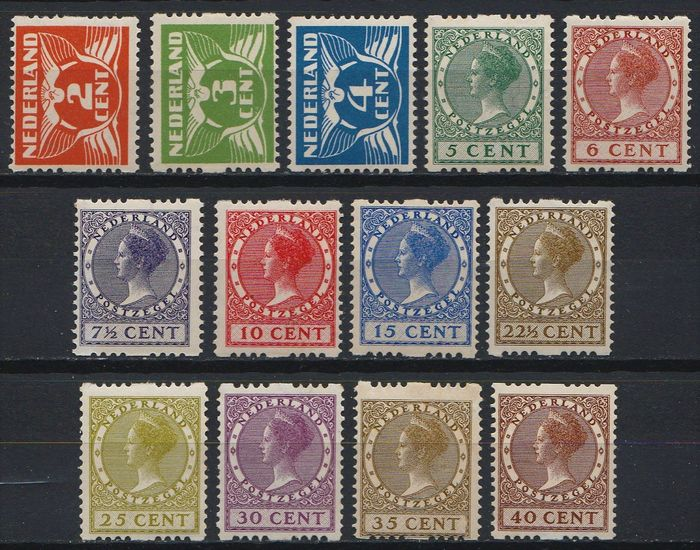 Netherlands 1926/1927 - Four-sided syncopation - NVPH R19/R31