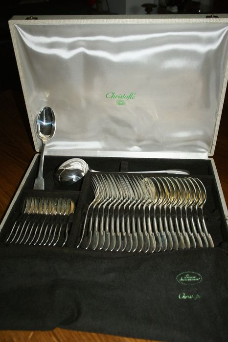 Cutlery set, Household (49) - .925 silver - Christofle - France - 20th century