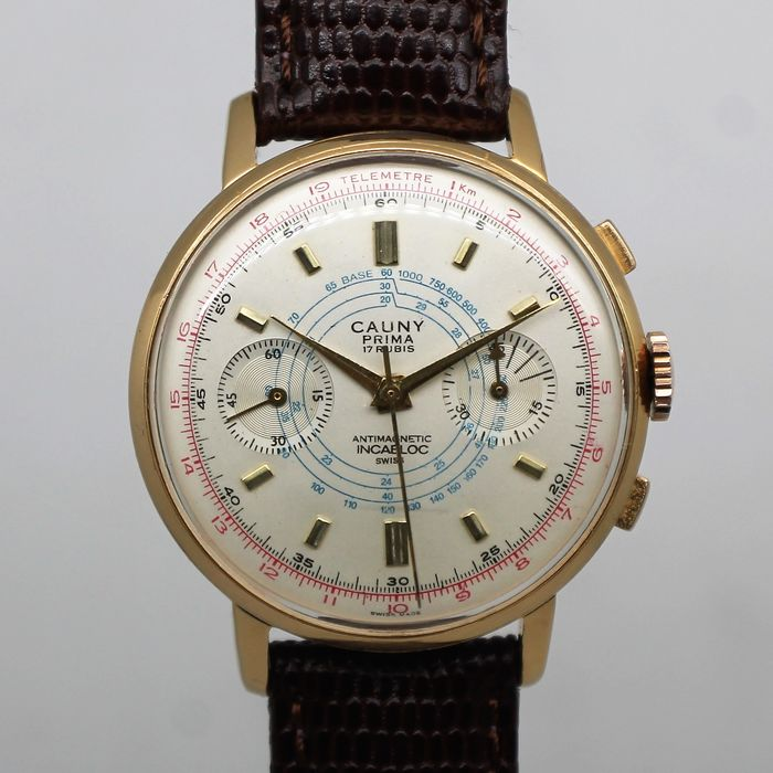 "Cauny Prima - Chronograph - Landeron 248 - ""NO RESERVE PRICE"" - Men - 1950-1959"
