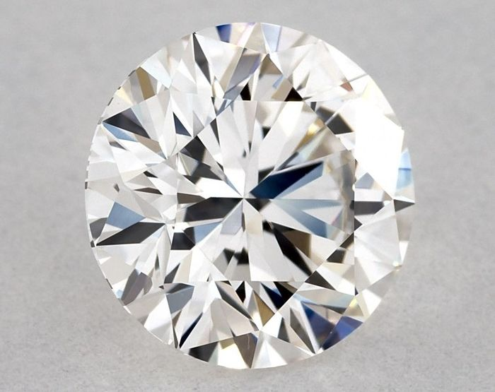 1 pcs Diamond - 1.04 ct - Brilliant, Round - H, GIA - EX/VG/VG - IF (flawless), Low Reserve Price + Free Shipping