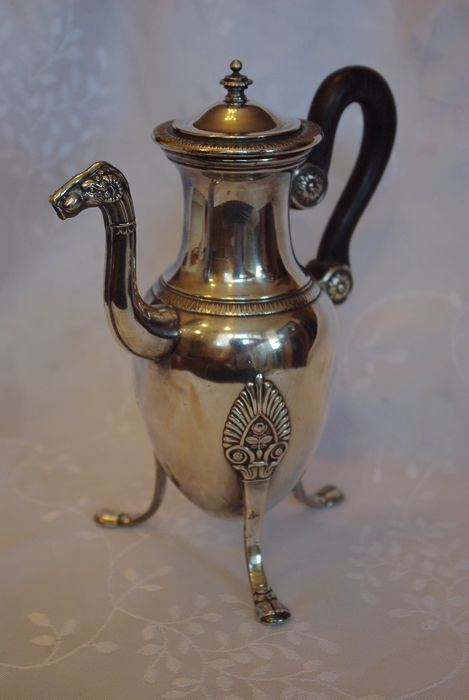 Christofle - Coffee jug, spout with ram's head - Silverplate