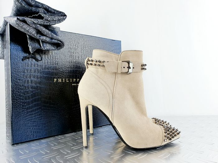 Philippe Plein - Suède On My Boo  ankle boots - Size: IT 39
