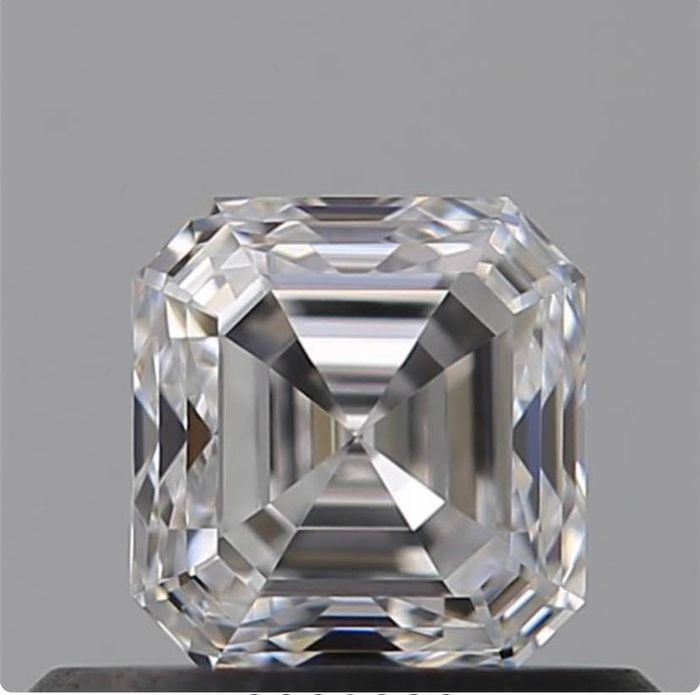 Diamant - 0.52 ct - Carré Emeraude - D (incolore) - VVS1