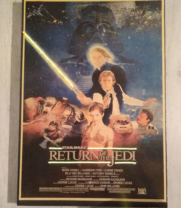 Star Wars - Affiche Return of the Jedi - artwork with Neon highlights