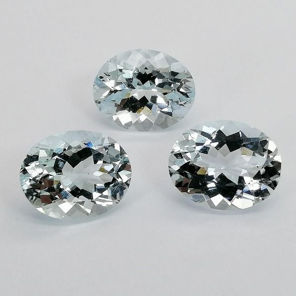 3 pcs  Aigue-marine - 6.96 ct