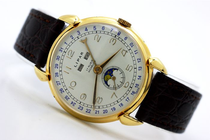 Lipar - Moonphase Triple Date Venus 203 - Men - 1950-1959