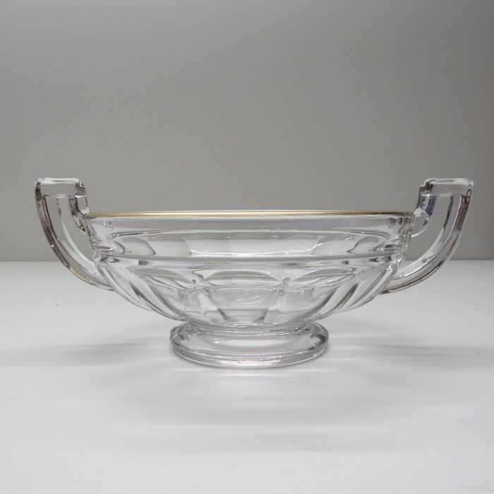 Graffart and Delvenne for Luxval series - Val Saint Lambert - Noemie bowl with gold rim - Glass