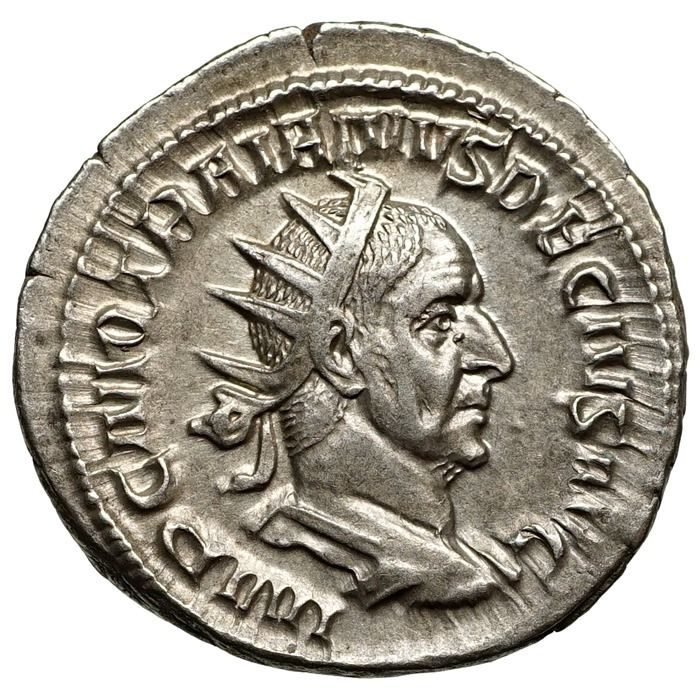 Empire romain - Antoninianus Traianus Decius (249-251) Rom, Abundantia - Top!