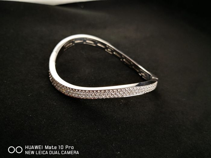 18 kt. White gold - Bracelet - Diamonds