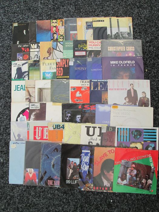 David Bowie, Rolling Stones, Roxy Music, Many more - Multiple artists - Multiple titles - Collection of 50 Hit Singles from 1980s - 1980/1989
