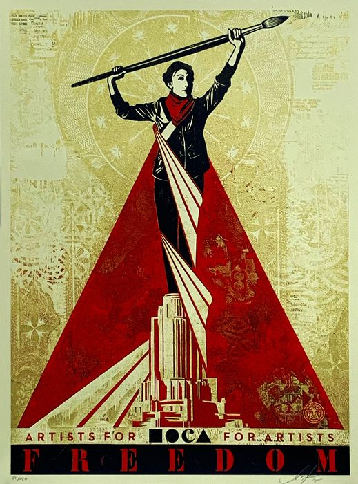 Shepard Fairey (OBEY) - 'Artists for Freedom (MOCA)'