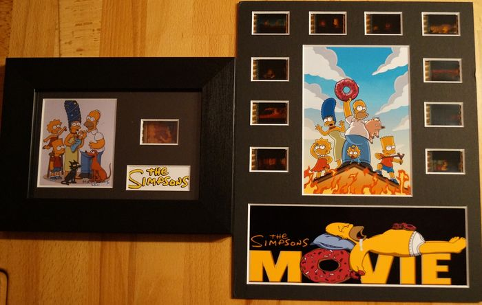 The Simpsons - Movie edition - Set of 2 Film cell Displays