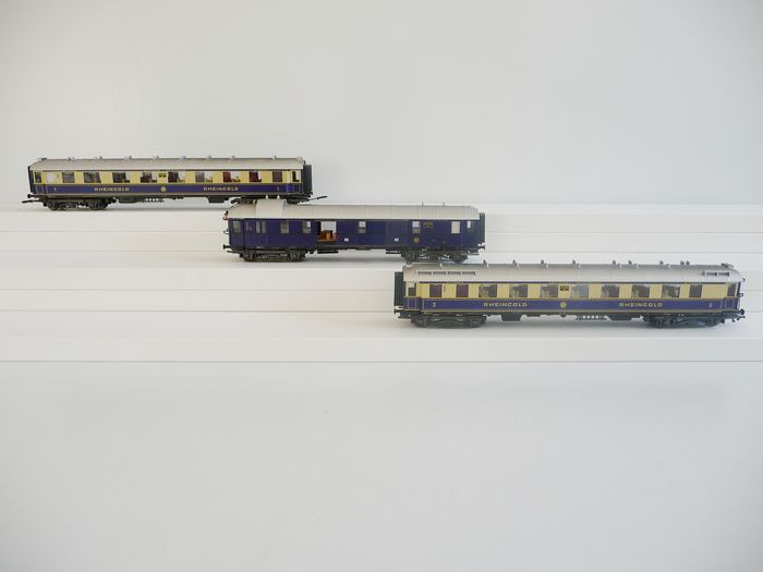 "Märklin H0 - Uit set 4228.1 - Passenger carriage - 3 carriages ""Rheingold"" - DRG"