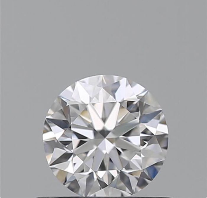 1 pcs Diamante - 0.40 ct - Brilhante - F - VVS2