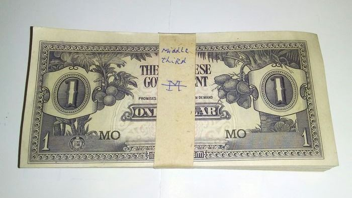 Malaya - 100 x 1 dollar 1942 - Pick M5c - original bundle
