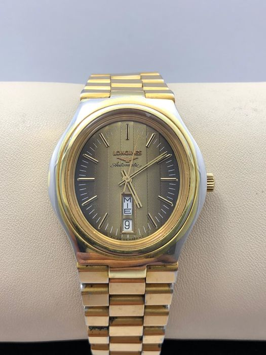 """Longines - ovale day-date automatic - """"NO RESERVE PRICE""""  - 2357 1 636 - Men - 1970-1979"""