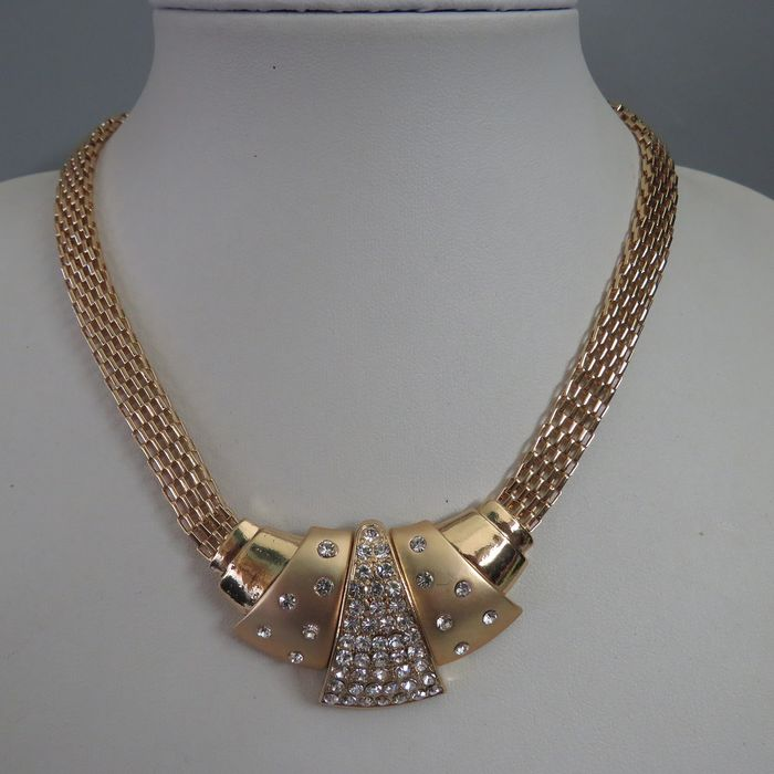 Camrose & Kross - Jackie Kennedy -  Gold-plated - Necklace Crystals
