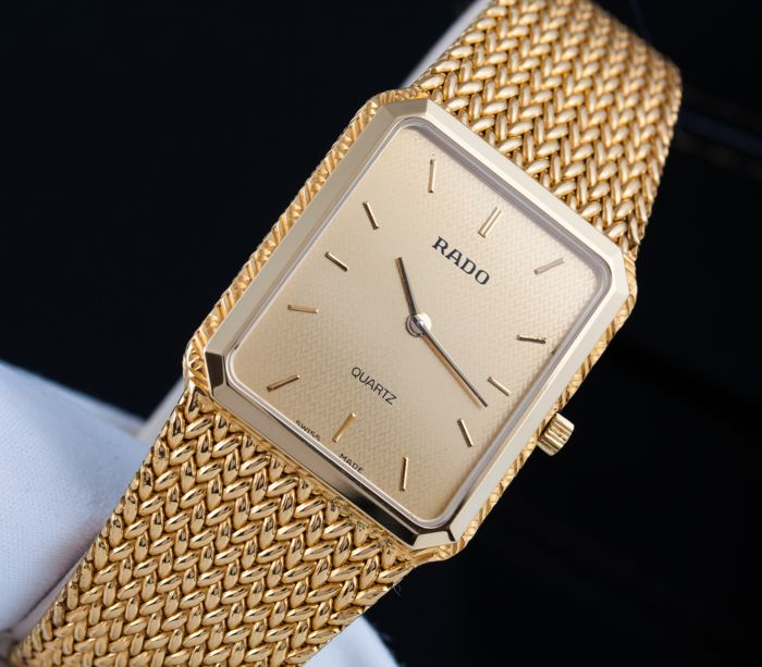 Rado - Luxury Bracelet Watch- Full 18K GP - Unisex - 1990-1999
