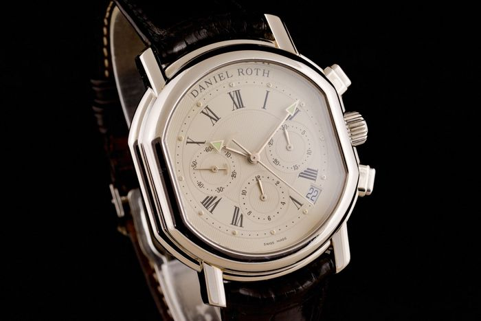 """Daniel Roth - Beautiful Chronograph ,box papers - """"NO RESERVE PRICE"""" - S247STCL - Men - 2000-2010"""