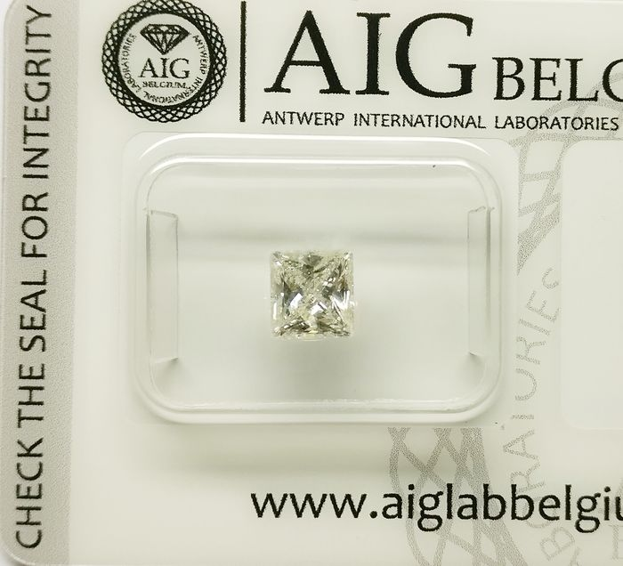 1 pcs Diamant - 0.73 ct - Prinses - J - SI1