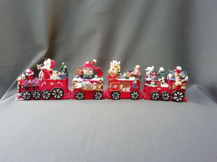 Christmas train with family travelling