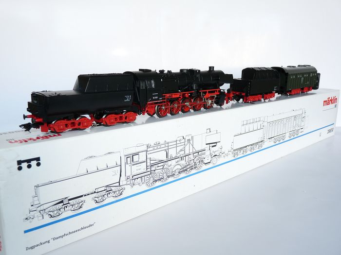 Märklin H0 - 28830 - Steam locomotive with tender - BR 52 with 2 drawn tenders and snow blowers - DB