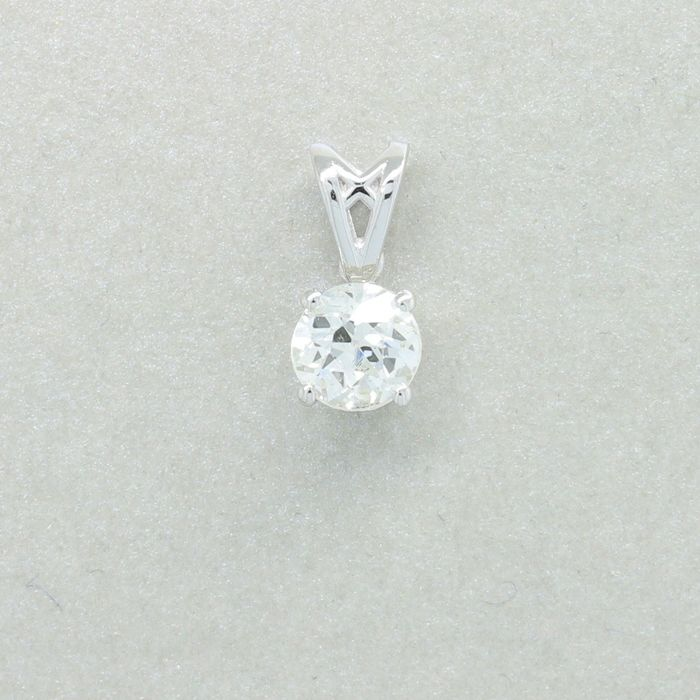 18 quilates Oro, Oro blanco - Colgante - 0.71 ct Diamante
