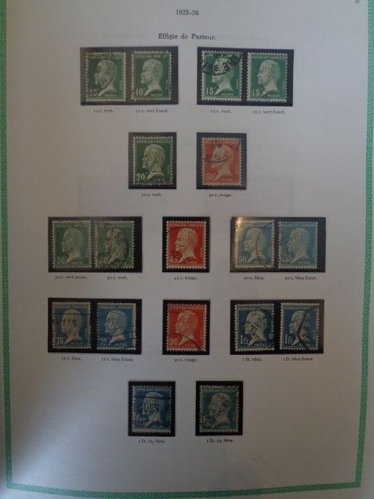 Frankreich 1923/1949 - Well-advanced collection of stamps on Yvert page ++ high value - Yvert n°170 au 862