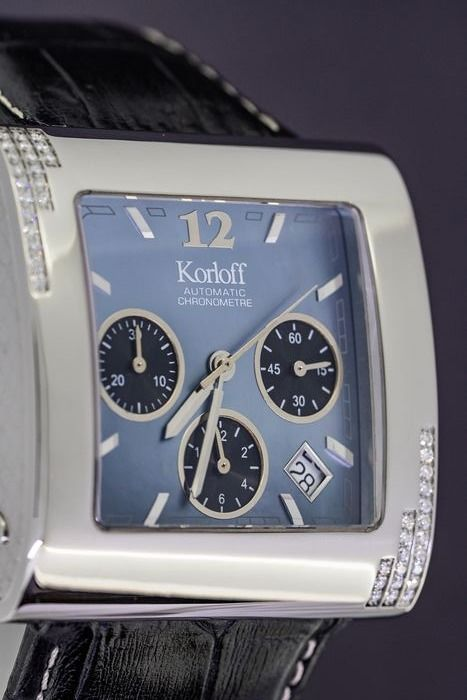 Korloff - Diamond 0.32 Carat Certified Chronometre Square Special Limited Edition Mother of Pearl Swiss Made  - KCA2 - Unisex - BRAND NEW